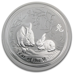 2011 2 oz Silver Australian Year of the Rabbit Coin